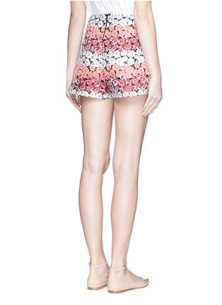 背面 - 点击放大 - GIAMBA - 拼色花卉提花短裤