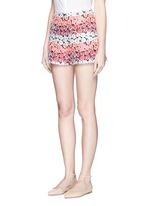Flower jacquard shorts
