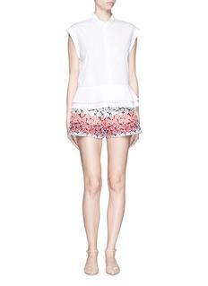 GIAMBAFlower jacquard shorts