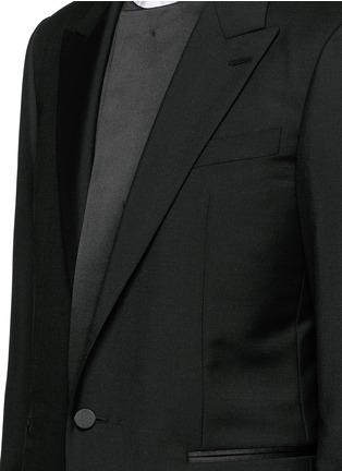 细节 - 点击放大 - BALENCIAGA - 层次拼贴混羊毛西服外套