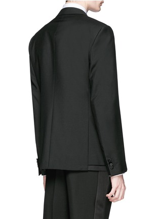 背面 - 点击放大 - BALENCIAGA - 层次拼贴混羊毛西服外套