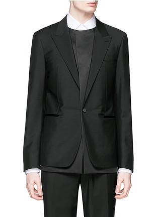 首图 - 点击放大 - BALENCIAGA - 层次拼贴混羊毛西服外套