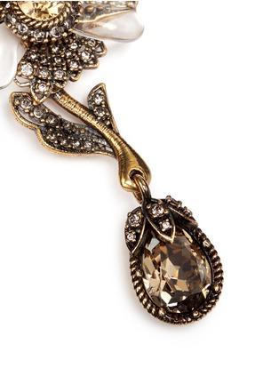 Alexander McQueen-Swarovski crystal floral drop clip earrings
