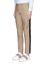 Tuxedo stripe cotton Cavalry twill pants