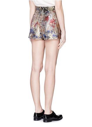 背面 - 点击放大 - VALENTINO - 彩色花卉提花短裤