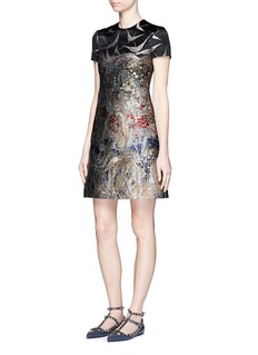 VALENTINO Swallow embroidery jacquard dress
