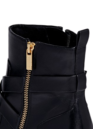 Detail View - Click To Enlarge - Michael Kors - 'Bryce' logo buckle strap leather boots