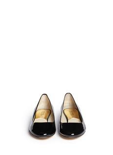 MICHAEL KORS'Joy Kitten' logo heel patent leather pumps