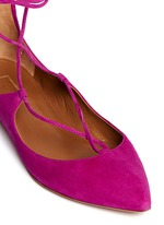 'Christy' suede lace-up skimmer flats