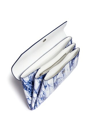 Detail View - Click To Enlarge - McQ Alexander McQueen - 'Risk' marble print patent leather clutch
