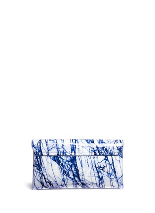 Figure View - Click To Enlarge - McQ Alexander McQueen - 'Risk' marble print patent leather clutch