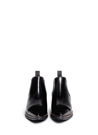 Figure View - Click To Enlarge - MC Q SHOES - 'Redchurchill' metallic heel brushed leather Chelsea boots