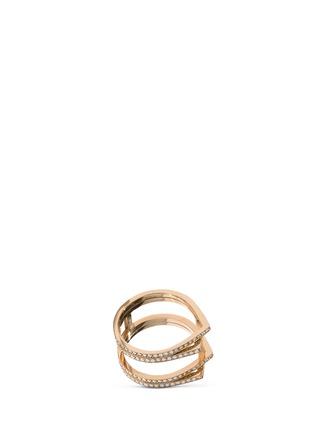 Main View - Click To Enlarge - REPOSSI - 'Antifer' diamond 18k rose gold ring