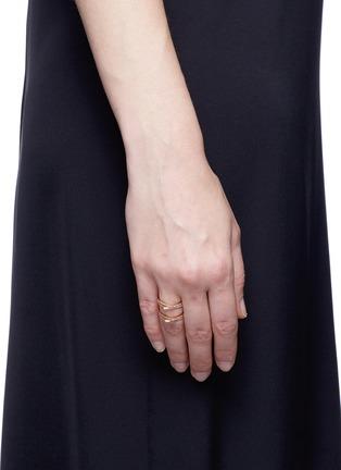 REPOSSI-'Antifer' diamond 18k rose gold ring