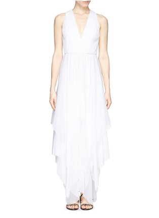 Main View - Click To Enlarge - alice + olivia - 'Mya' cross back handkerchief dress