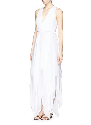 Figure View - Click To Enlarge - alice + olivia - 'Mya' cross back handkerchief dress