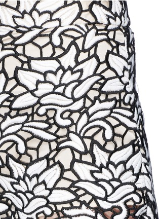 Detail View - Click To Enlarge - alice + olivia - Embroidery lace high waist shorts