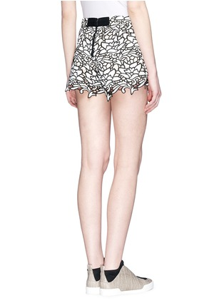 Back View - Click To Enlarge - alice + olivia - Embroidery lace high waist shorts