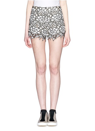 Main View - Click To Enlarge - alice + olivia - Embroidery lace high waist shorts