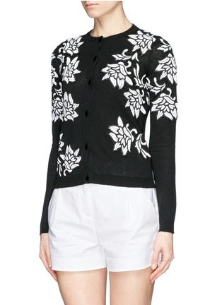 Front View - Click To Enlarge - alice + olivia - 'Winnie' lace appliqué cardigan