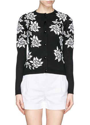 Main View - Click To Enlarge - alice + olivia - 'Winnie' lace appliqué cardigan