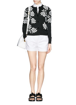 Figure View - Click To Enlarge - alice + olivia - 'Winnie' lace appliqué cardigan