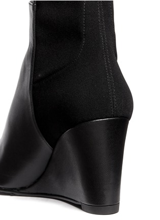 Detail View - Click To Enlarge - Stuart Weitzman - '5050' elastic-back nappa long wedge boots