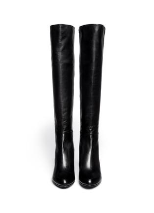 Figure View - Click To Enlarge - Stuart Weitzman - '5050' elastic-back nappa long wedge boots