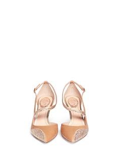 RENÉ CAOVILLAPython leather crystal sandals