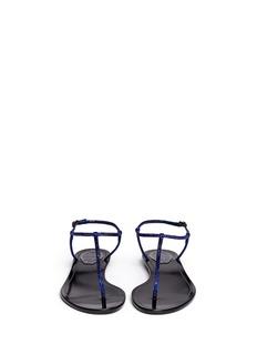 RENÉ CAOVILLACrystal T-strap flat sandals
