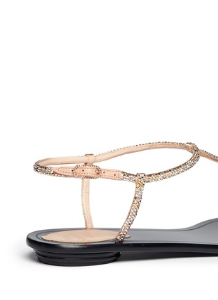 Detail View - Click To Enlarge - René Caovilla - Crystal T-strap flat sandals