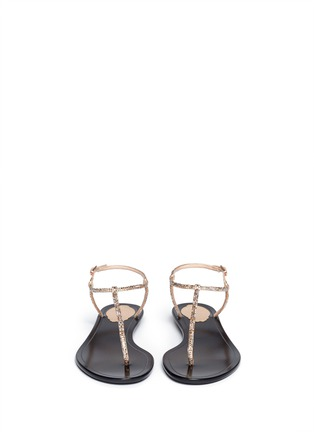Figure View - Click To Enlarge - René Caovilla - Crystal T-strap flat sandals