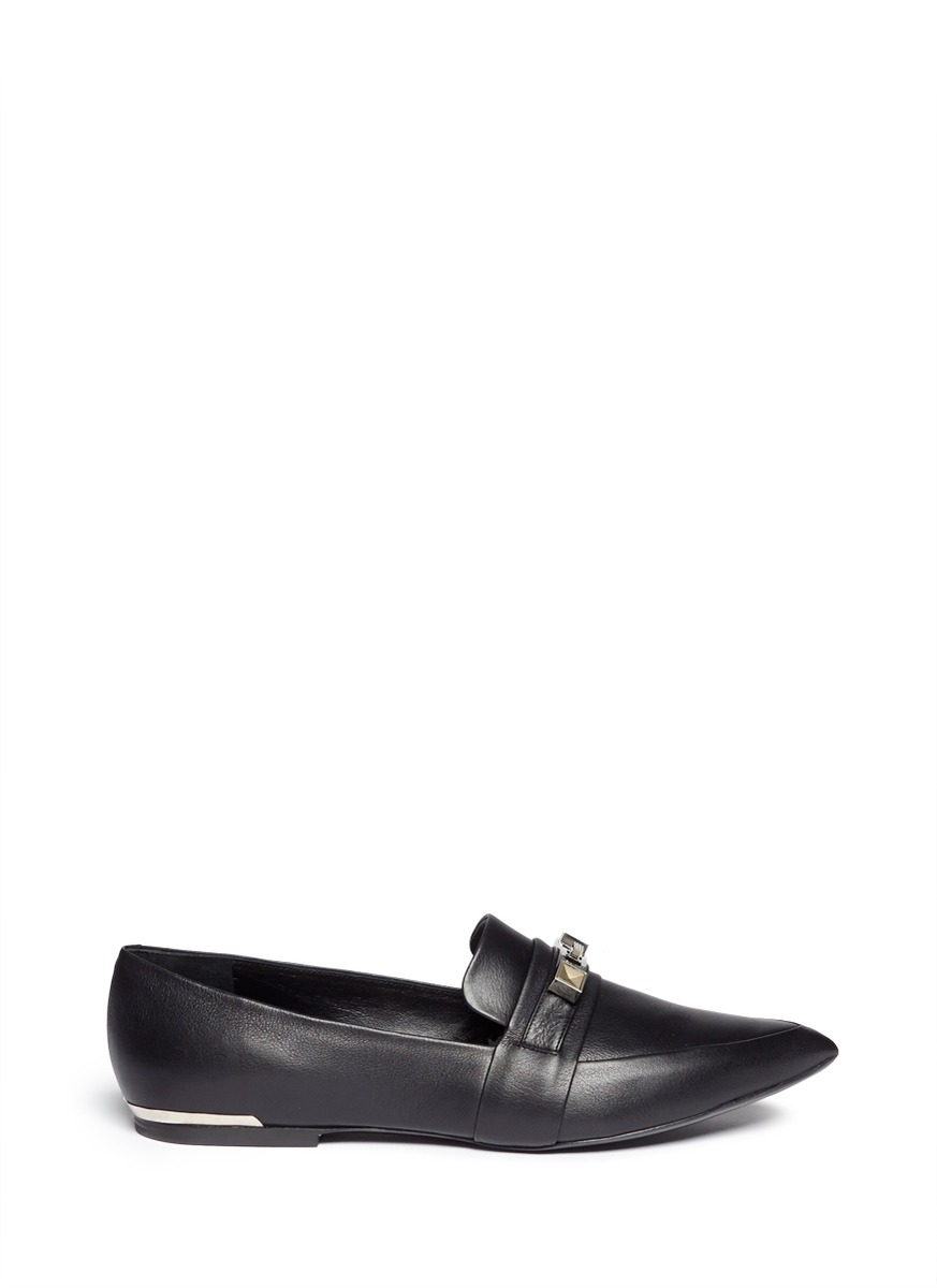 PS11 hardware point-toe loafers