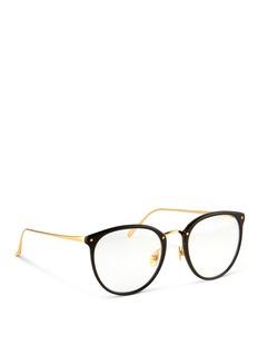 Linda Farrow Titanium temple acetate optical glasses