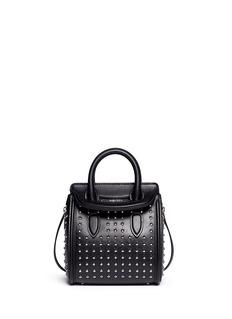 ALEXANDER MCQUEEN'Heroine' mini stud leather satchel
