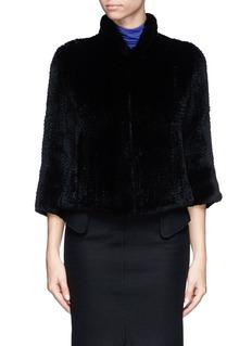 ARMANI COLLEZIONIClub collar rabbit fur coat