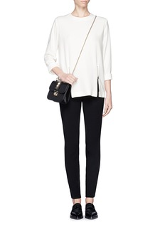 STELLA MCCARTNEY Stretch cady double zip top