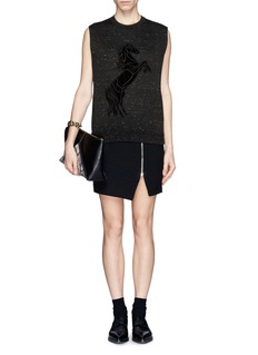 STELLA MCCARTNEY Horse embroidery tank top