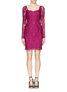 EMILIO PUCCISheer sleeve guipure lace sheath dress