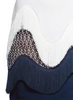 Frill trim and lace shift dress