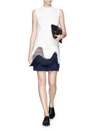 Stella McCartney-Frill trim and lace shift dress