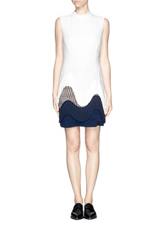 STELLA MCCARTNEY Frill trim and lace shift dress