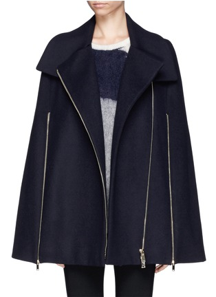 Detail View - Click To Enlarge - Stella McCartney - Cape coat