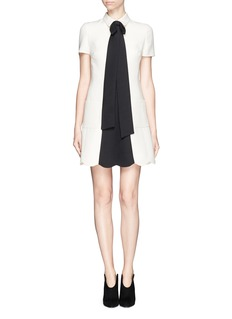 VALENTINO Crepe Couture bow neck dress