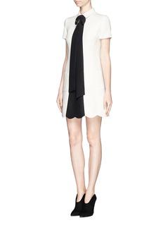 VALENTINOCrepe Couture bow neck dress