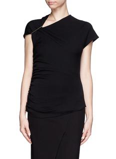 LANVINPin shoulder drape knit top