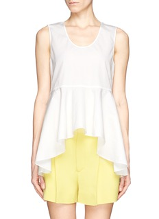 CHLOÉ Waterfall ruffle peplum top
