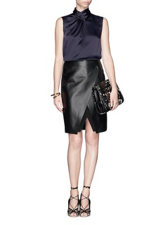 JASON WU Pleat neck silk blouse