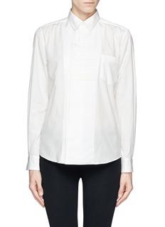 TOGA ARCHIVESVelveteen stripe extension placket shirt