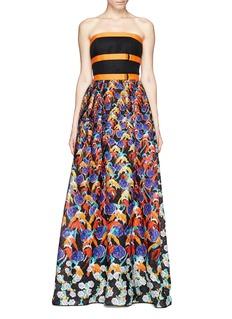 PETER PILOTTO'Freya' strapless floral print maxi dress